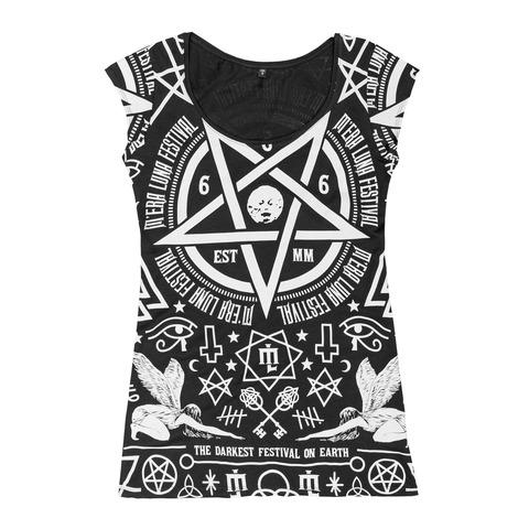 √Occult Allover von Mera Luna Festival - Girlie Shirt jetzt im Mera Luna Shop