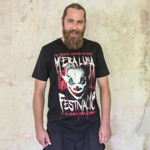 Cemetery Glow Clown von Mera Luna Festival - T-Shirt jetzt im Mera Luna Shop